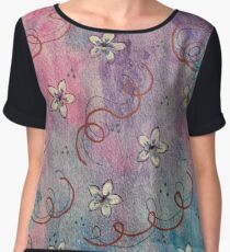 Pinky-Blue-Flower-Garden-by-DotingOnCrafts Chiffon Top