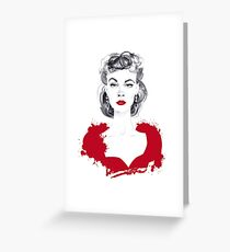 Burgundy or Scarlett Greeting Card