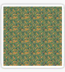 Marijuana green and yellow retro pattern Sticker