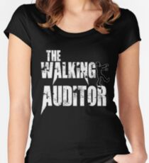 funny Auditor walking Audit zombie gift t shirt Women's Fitted Scoop T-Shirt