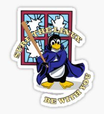 Funny Linux T-Shirt Sticker