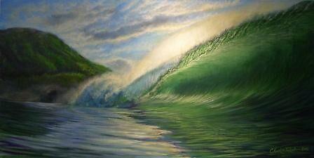 Waimea Shorebreak by Clark Takashima