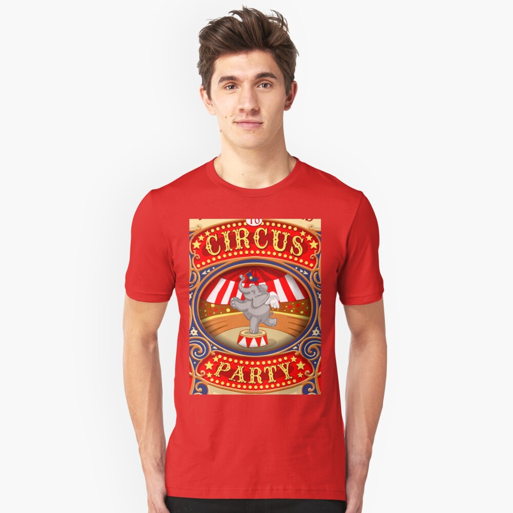 Dumbo Flying Elephant Circus Party  Slim Fit T-Shirt