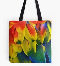 Parrot Feathers Tote Bag
