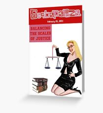 Boobapalooza: Balancing the Scales of Justice Greeting Card