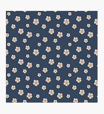 Pattern with sakura flowers in tattoo style  Photographic Print