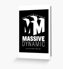 Massive Dynamic – Your World Is Our World Reverse Greeting Card