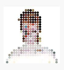 David Bowie Aladdin Sane Dots  Photographic Print
