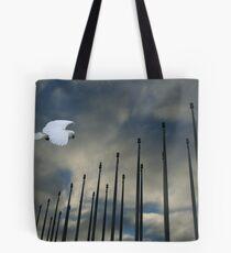 White Penon Tote Bag