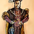 Henry VIII illustrated character portrait by Extreme-Fantasy