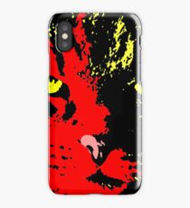 ANGRY CAT POP ART - RED YELLOW BLACK GREEN iPhone Case/Skin
