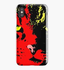 ANGRY CAT POP ART - YELLOW BLACK RED iPhone Case/Skin