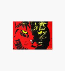 ANGRY CAT POP ART - YELLOW BLACK RED Art Board