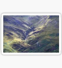Light Beams At Hell Ghyll , Oxendale Sticker
