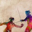 Fencing sport art #fencing by JBJart