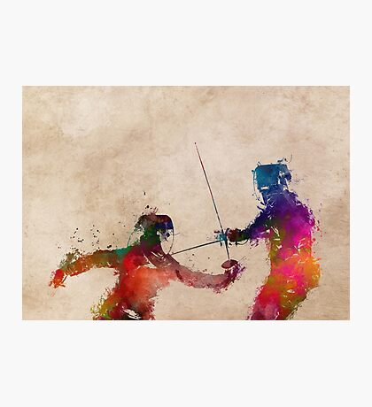 Fencing sport art #fencing Photographic Print