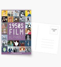 Fünfziger Jahre Film Alphabet Postkarten