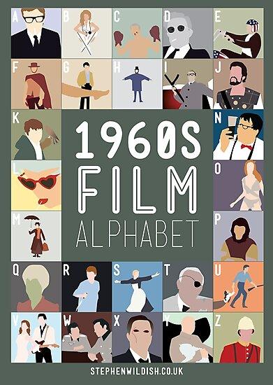 1960s Film Alphabet by Stephen Wildish