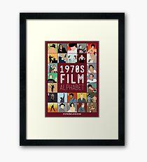 1970s Film Alphabet Framed Print