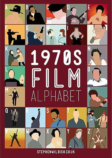 1970s Film Alphabet by Stephen Wildish