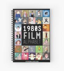 1980's Film Alphabet Spiral Notebook