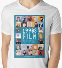 1990's Film Alphabet Mens V-Neck T-Shirt