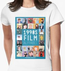 1990's Film Alphabet Women's Fitted T-Shirt