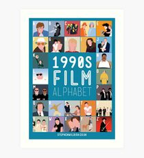 1990's Film Alphabet Art Print