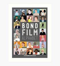Bond Film Alphabet Art Print
