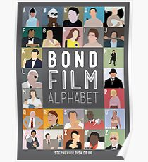 Bond Film Alphabet Poster