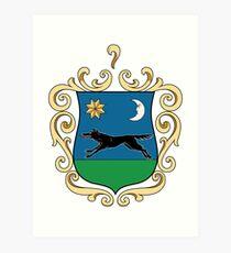 Gyöngyös Coat of Arms, Hungary Art Print