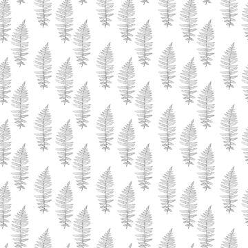 Fern frond silhouettes pattern by Viktoriia
