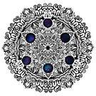 Stipple Galaxy Mandala by WelshPixie