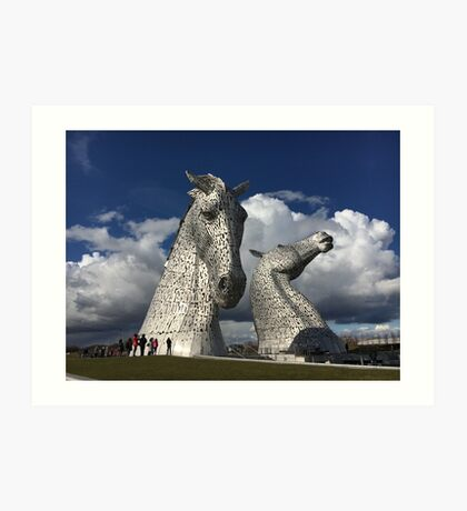 The Kelpies, Helix Park , Grangemouth Art Print