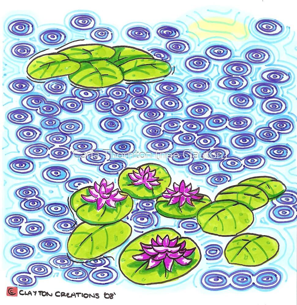 Lillies in rain by Carla Thornton (nee Clayton)