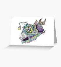 Psychedelic Angler Fish   Greeting Card