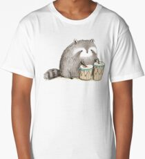 Raccoon on Bongos Long T-Shirt