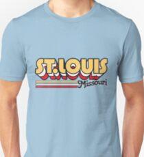 St. Louis, MO | City Stripes Unisex T-Shirt