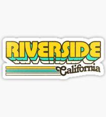 Riverside, CA | City Stripes Sticker