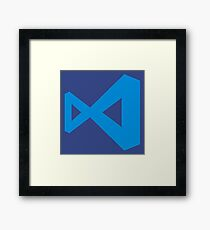 visual studio code Framed Print