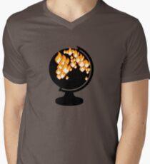 We burned it. Men's V-Neck T-Shirt