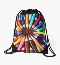 Colored Pencil Lover Drawstring Bag