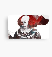 Stephen King's 'It'   Pennywise the Dancing Clown   Tim Curry   Galaxy Horror Icons Canvas Print