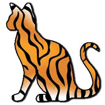 Tiger Cat Sticker by YouTag