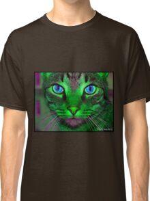 green & purple cat Classic T-Shirt