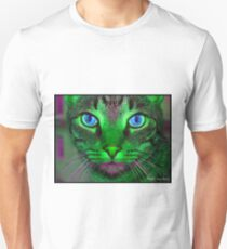 green & purple cat T-Shirt