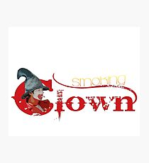Smoking Clown Photographic Print