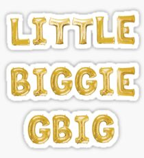 Little Big GBig Gold Balloon Sticker