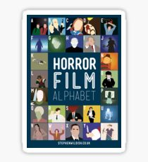 Horror Film Alphabet Sticker