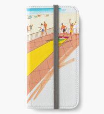 1960's Original Shuffleboard Artwork for a motel's pre opening brochure iPhone Wallet/Case/Skin